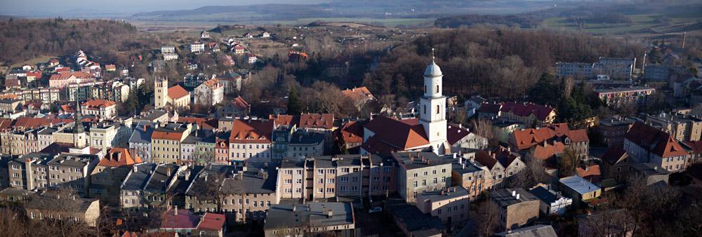 Bolków - panorama miasta