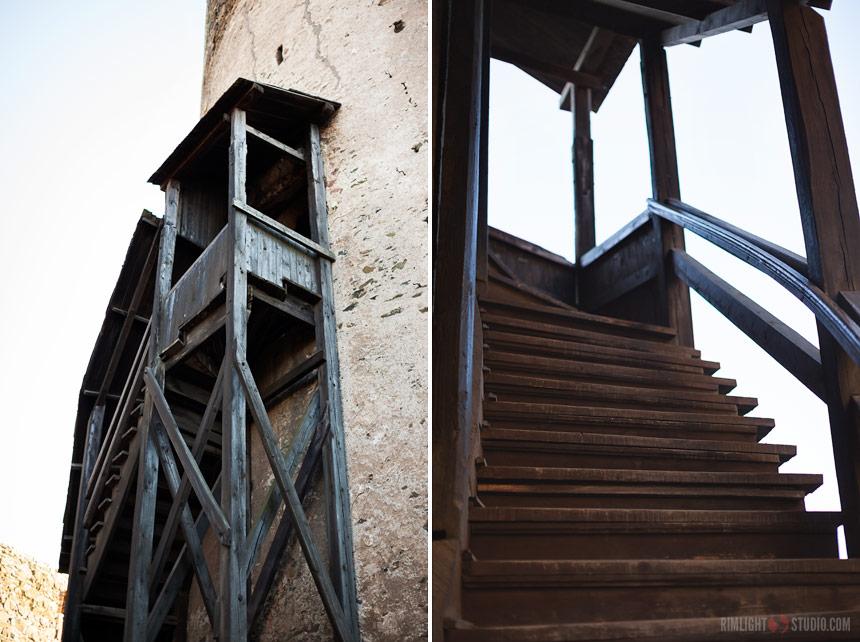 Wejście na wieżę zamkową.