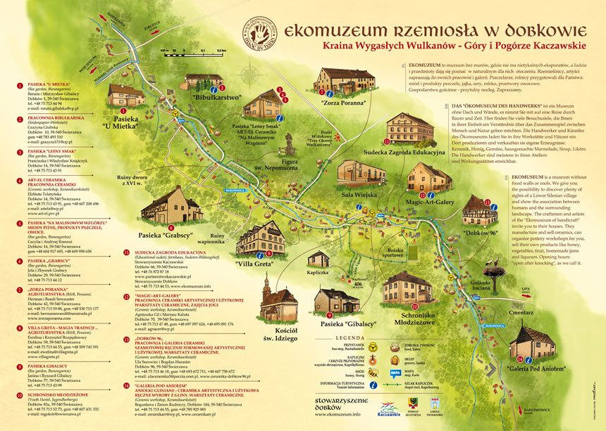 Shrine trail at Ecomuseum of Crafts in Dobków