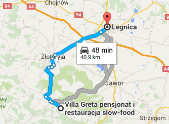 Legnica, dojazd