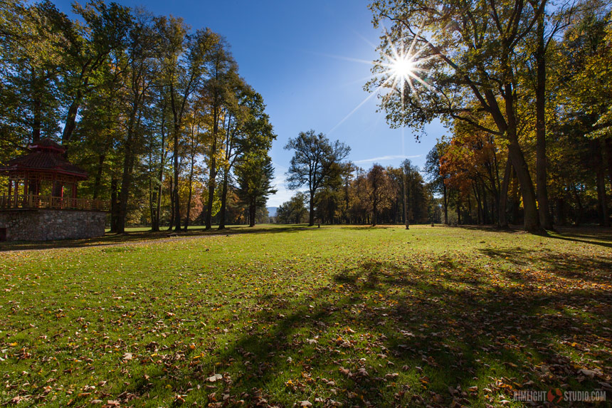 Парк дворца Воянув