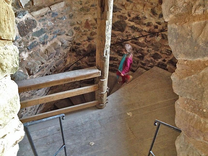 Лестница в Замке Ленно