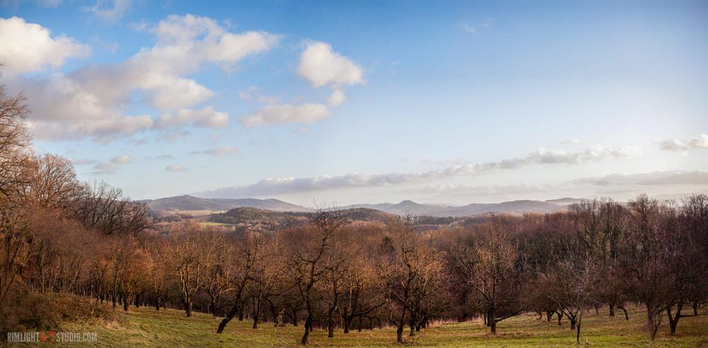 Góry Kaczawskie panorama
