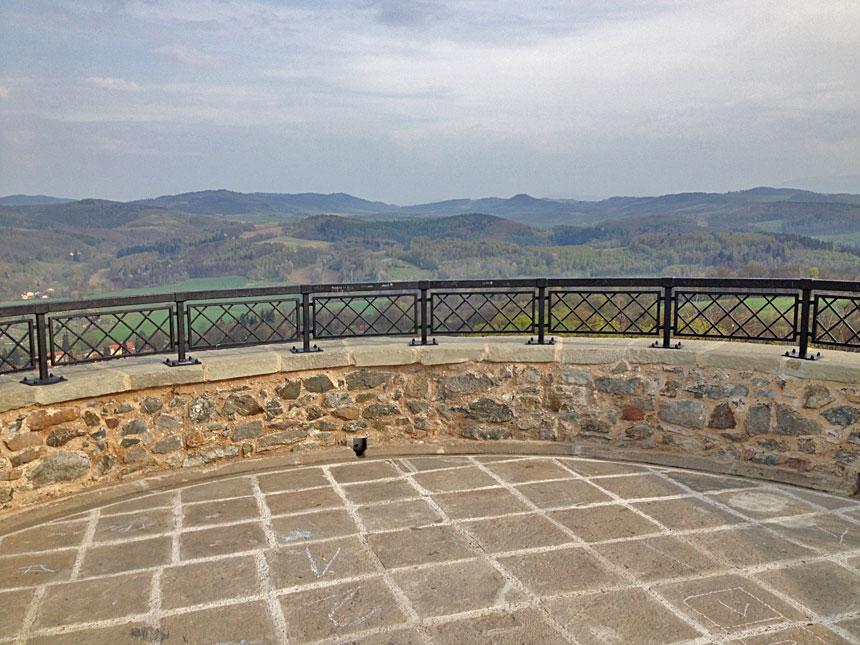Смотровая площадка, Замок Ленно
