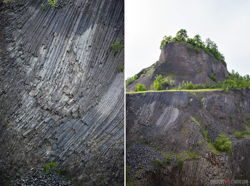 Basalt columns in Poland