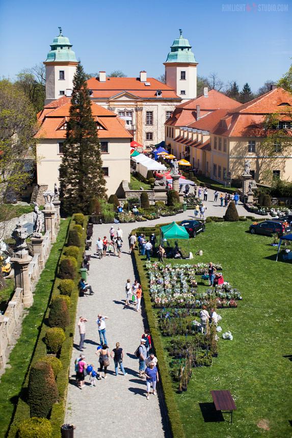 Замок Ксёнж - внутренний дворик