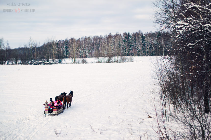 Sleigh ride in Lower Silesia