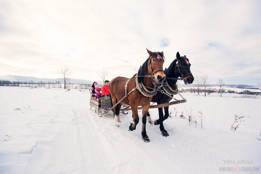 Sleigh ride in Giant Mountains