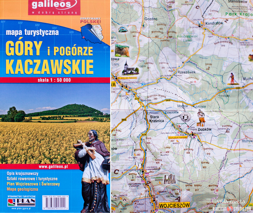 Katshava Mountains map Poland