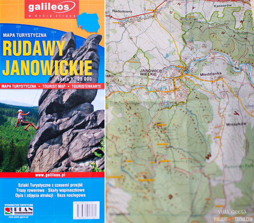 Rudawy Mountains Poland map