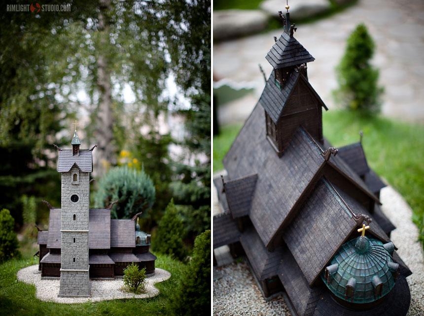 Kościółek Wang w Parku Miniatur w Kowarach