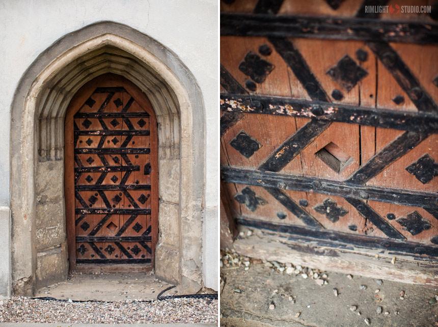 Średniowieczna, gotycka brama
