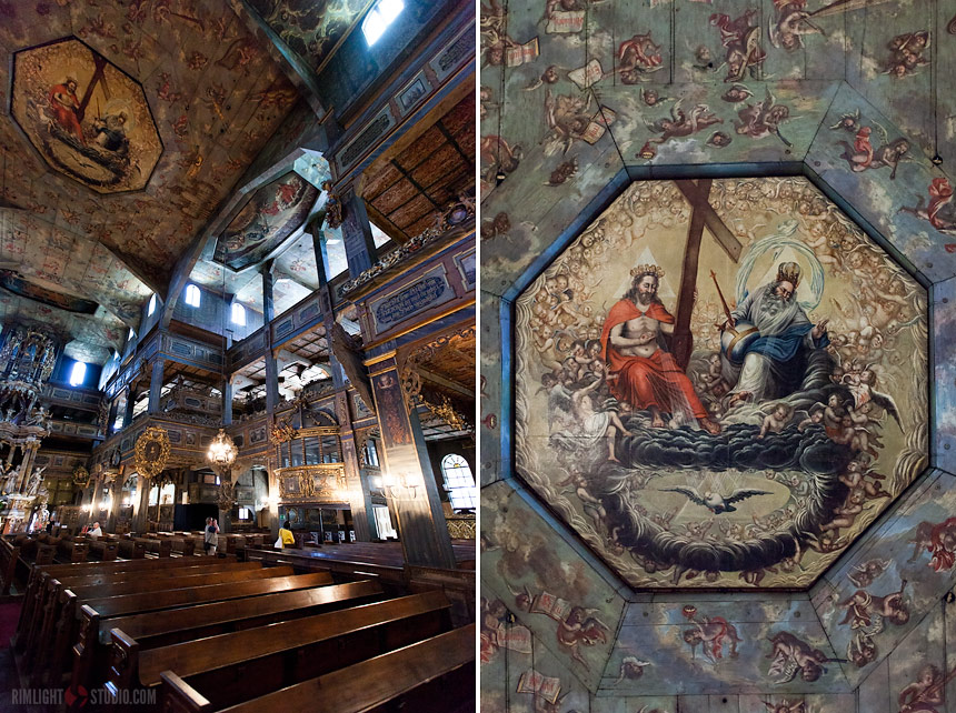 Historical paintings church Poland