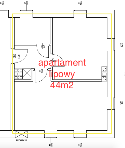 Apartament lipowy w Domu Arnolda