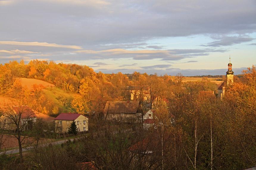 Dobków wieś w Sudetach
