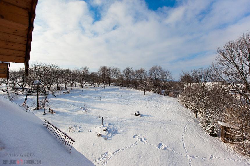 Śnieg w Dobkowie