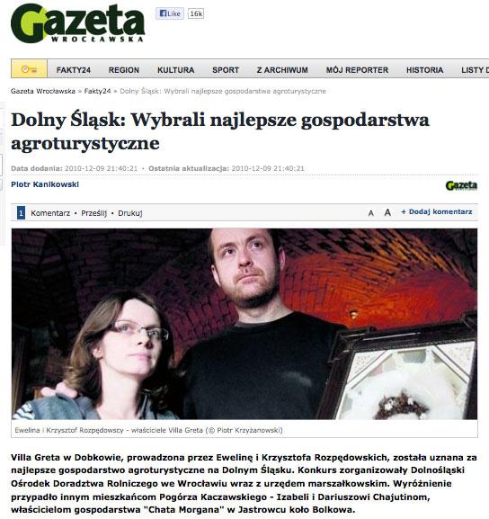 Gazeta Wrocławska Villa Greta