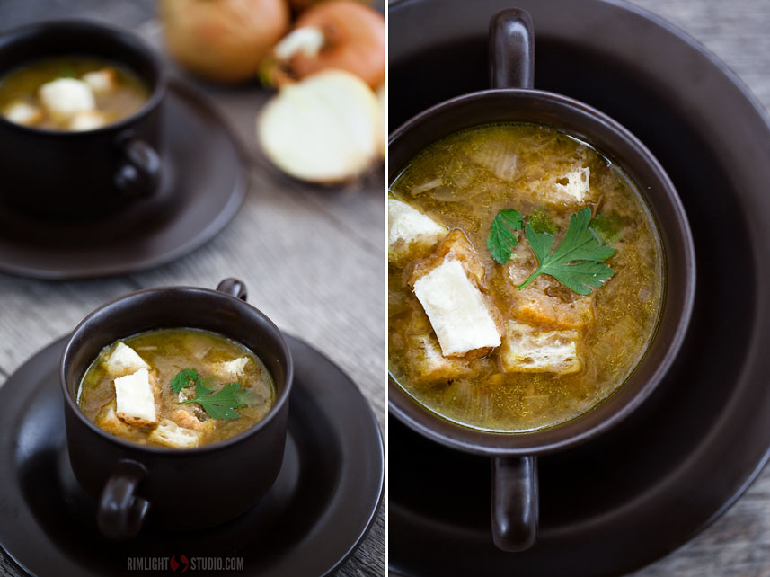 Onion soup in Poland