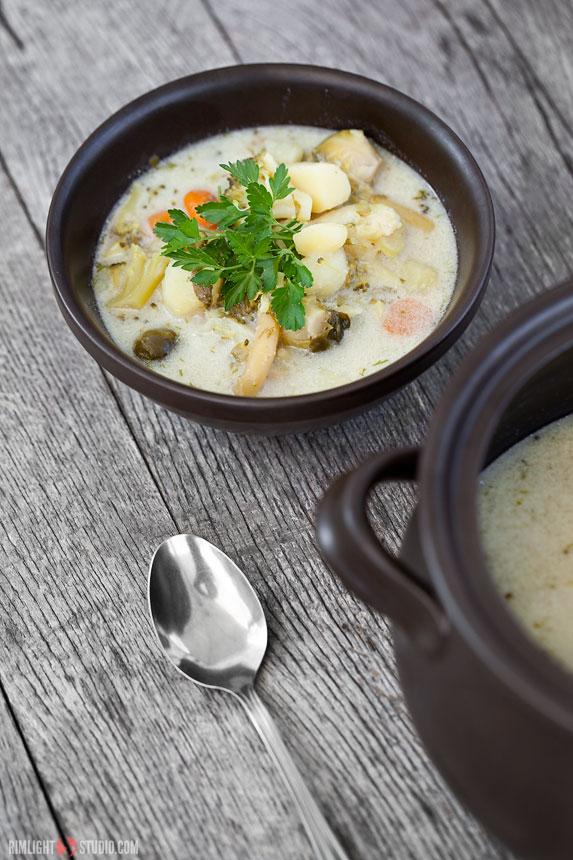 Vegetarian bean soup in Poland