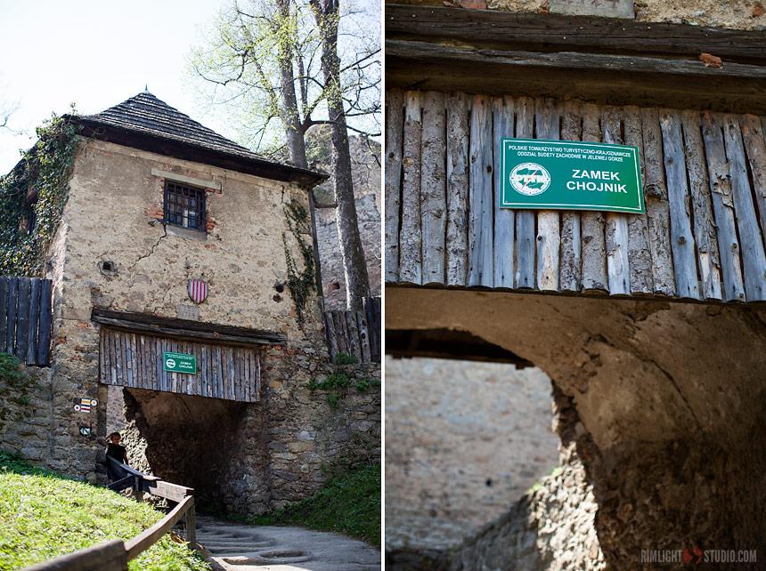 Zamek Chojnik - brama wjazdowa