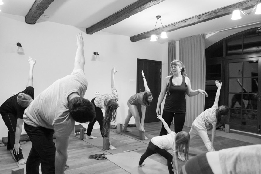 Hatha-yoga Polish mountains