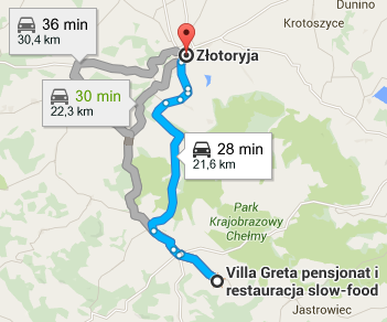 Zlotoryja - directions
