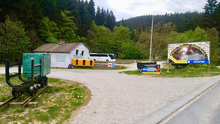 Parking kopalni Liczyrzepa w Kowarach