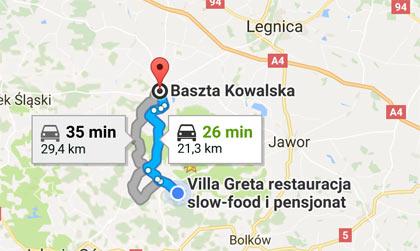 Baszta Kowalska dojazd
