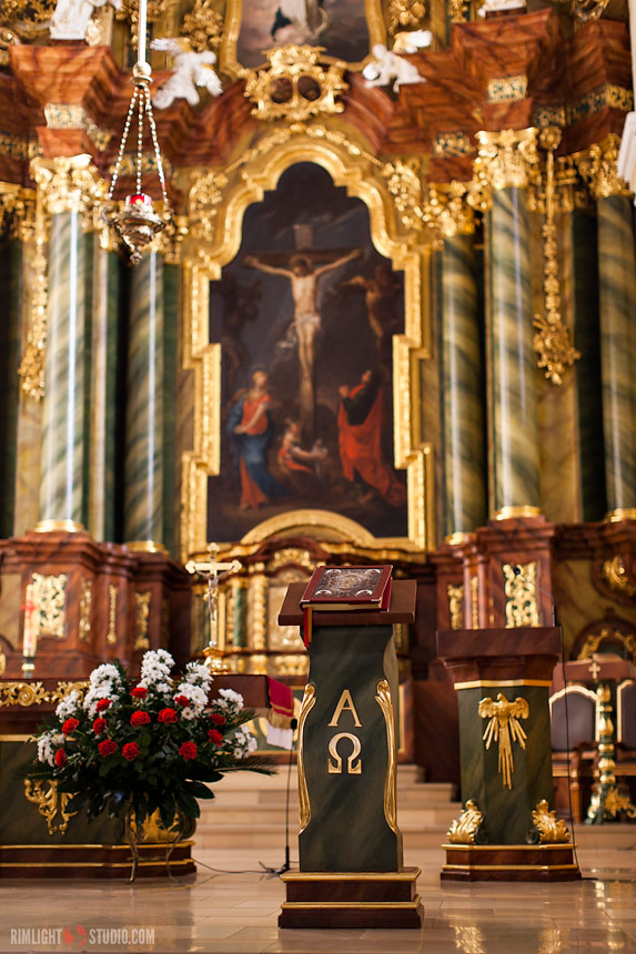 Altar in church in Zlotoryja