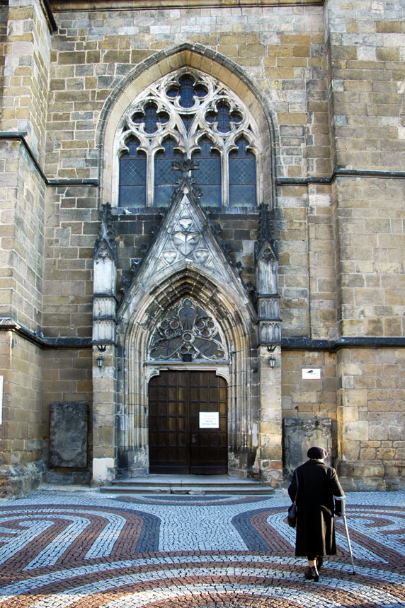 Gothic portal in church in Zlotoryja