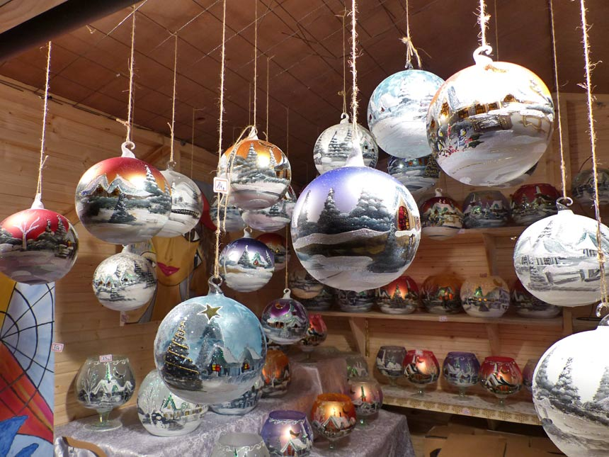 Christmas baubles from Poland