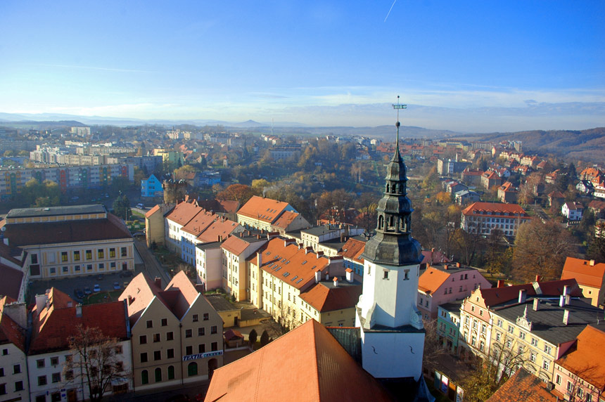 View from church tower in Zlotoryja