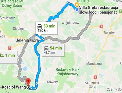 Vang church Karpacz directions