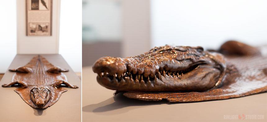 Крокодил из меди