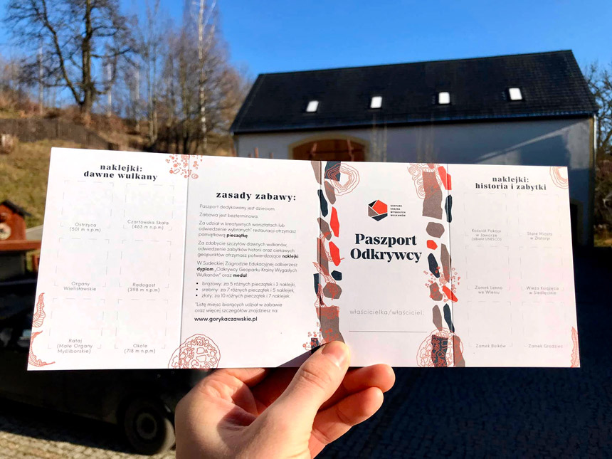 Paszport Odkrywcy Krainy Wygasłych Wulkanów
